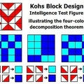 Four-color decomposition of a Kohs block pattern